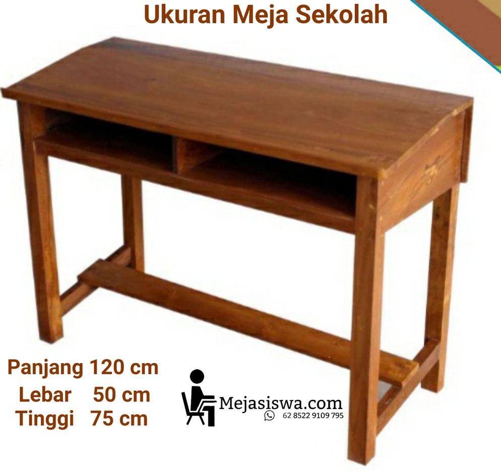 ukuran meja sekolahan